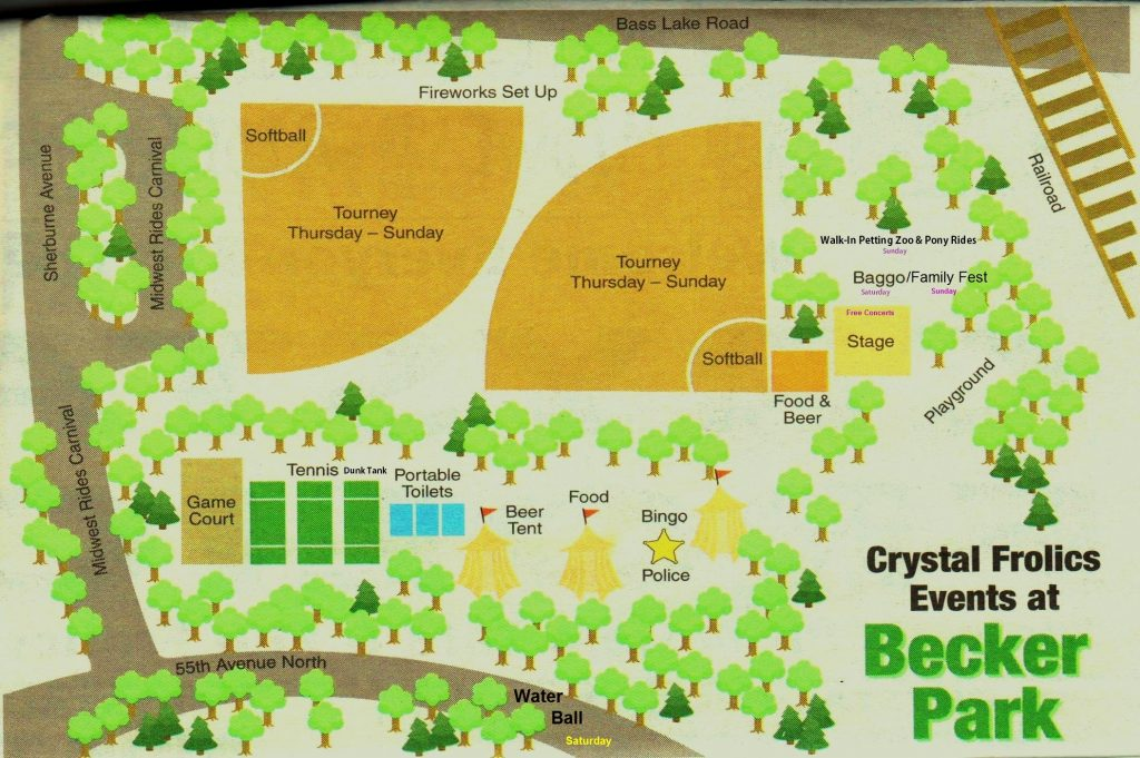 Frolics Map at Becker Park 2016